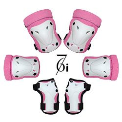 67i Multi Sport Kids Protective Gear Set Toddler Bike Protective gear Knee and Elbow Pads with W ...