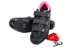 Tommaso Pista Women's Spin Class Ready Cycling Shoe – Black/Pink – Look Delta  ...