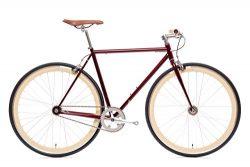 State Bicycle Fixed Gear/Fixie Flip Flop Hub Vans Grips Ashford Single Speed Bike, Crimson Red,  ...