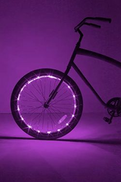 Brightz, Ltd. Wheel LED Bicycle Accessory Light (for 1 Wheel), Purple