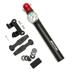 Wantdo Portable Bike Pump with Accurate Pressure Gauge,140PSI High Pressure Bicycle Air Pump-Fit ...