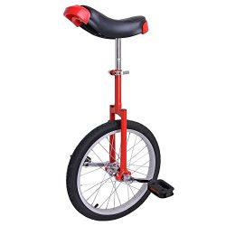 Astonishing RED 18 Inch In Mountain Bike Wheel Frame 18″ Unicycle Cycling Bike With Comfor ...