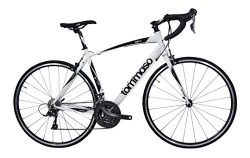 Tommaso Imola Endurance Aluminum Road Bike, Shimano Claris R2000, 24 Speeds – White – ...