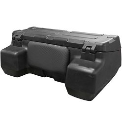 Black Widow – Locking ATV Cargo Box – ATV-CB-8015 – Cushioned Backrest – High-Density Polyethyle ...