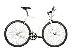 SXL Expressway Urban Track Bike Fixed/Single Speed (Pearl White, Small)