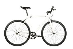 SXL Expressway Urban Track Bike Fixed/Single Speed (Pearl White, Medium)