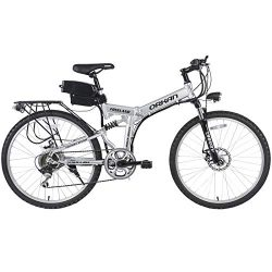 "ORKAN 26"" Floding E-Bike 7 Speeds Floding Electric Bike 250W Electric Suspension Montain B ..."