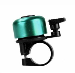 Mini Bicycle Bell Green Bike Handlebar Ring Bell Adjustable Safety Warning Loud Horn Cycling Acc ...