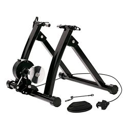 URSTAR Indoor Bike Trainer Stand, Portable Magenetic Resistance Bicycle Exercise Stand with Nois ...
