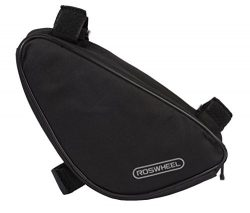 Roswheel 12657 Bike Frame Bag Bicycle Triangle Pack Cycling Accessories Pouch, Black