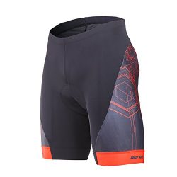 Beroy Men's Comfortable Bicycle Cycling Pants, 3D Padded Bike shorts,Red, Small