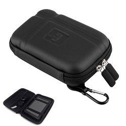 5 Inch Hard Carrying Case Portable Hard Drive Case Hard GPS Bag with USB Cable Car Charger Mesh  ...