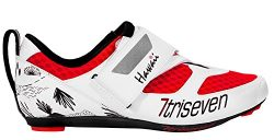 TriSeven Premium Nylon Triathlon Cycling Shoes   Lightweight, Unisex & Fiberglass Sole