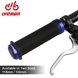 LYCAON Bike Grips Two Sizes Options 115mm / 130mm Anti-Slip Soft TPR Rubber Double Locking Grips ...