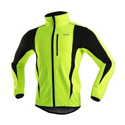 ARSUXEO Winter Warm UP Thermal Softshell Cycling Jacket Windproof Waterproof Bicycle MTB Mountai ...