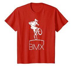 Kids Bmx T-Shirt Cool Bike Bicycle Motocross Jersey Gift Top Tee 8 Red