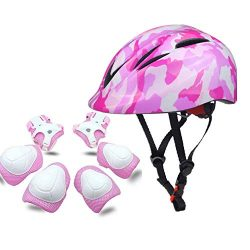 Atphfety Kids Sports Protective Gear Set, Boys Girls Cycling Helmet with Knee&Elbow Pads and ...