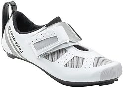 Louis Garneau – Tri X-Speed 3 Triathlon Bike Shoes, White/Drizzle, US (12.5), EU (48)