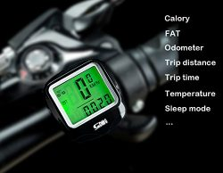 Fashion lab Bike Computer Speedometer Wired Waterproof Bicycle Odometer Temperature Display Bicy ...