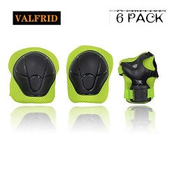 VALFRID Kids Sports Safety Knee Elbow Wrist Protective Pads, Suitable Skateboard,Biking,Mini Bik ...