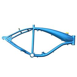 dolphin1986 Reinforced Motorized Gas Bicycle Frame w/2.4L Gas Tank- – Blue-gas motorized b ...