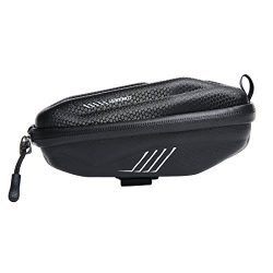 Wantdo Bicycle Saddle Bag with Highly Sealed Zipper for Repair Tools,Waterproof Bike Bag with Re ...