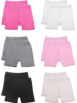 Zhanmai 12 Pieces Dance Shorts Bike Shorts Girls Stretchable Dancing Shorts Girls Exercise Safet ...