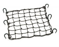 Powertye 50152 Black 15″X15″ Cargo Net featuring 6 Adjustable Hooks & Tight 2 ...