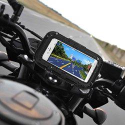 WongPing 5.5 inch Waterproof 360 Bike Motorcycle Motorbike Case Bag Mount Holder GPS Sat Nav Dev ...