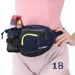 Innokids Hiking Waist Pack with Water Bottle (Not Included) Holder on Right Side, Outdoor Sports ...