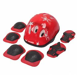 TFWDMX Protective Gear Set Helmet Knee Elbow Pads with Wrist Guards Child Kids Use for Skating C ...