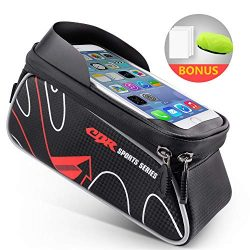 Beusoft Top Tube Front Frame Bike Bag Waterproof Touch Screen Phone Case iPhone X 8 7 6s 6 plus  ...