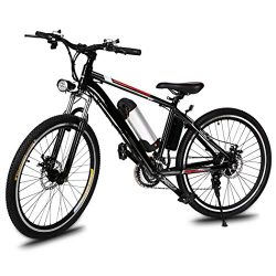 Lantusi Electric Mountain Bike with Removable Large Capacity Lithium-Ion Battery, 26-Inch Wheel, ...