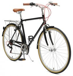 Critical Cycles Beaumont-7 Seven Speed Men's Urban City Commuter Bike; 50cm, Black