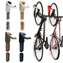 Reliancer 4 Color Foldable Vertical Bike Rack Wall Mounted Bicycle Cycle Storage Rack Single Bik ...