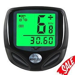 Bike Speedometer Waterproof Wireless Bicycle Bike Computer and Cycling Odometer with Automatic W ...