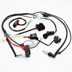 Complete Electrics Wiring Harness D8EA Spark Plug CDI Ignition Coil Kits For Chinese Dirt Bike 1 ...