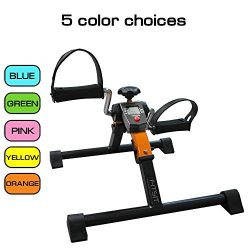 Platinum Fitness PFP2500 Fit Sit Deluxe Folding Pedal Exerciser Leg Machine with Electronic Disp ...