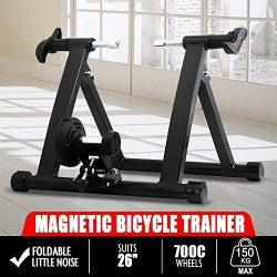 Yaheetech Radical Deal Indoor Magnet Steel Bike Bicycle Exercise Trainer Stand Resistance Statio ...