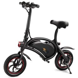 Goplus Folding Electric Bike Portable E-Bike with 12.5 Mile Range Electric Mini Bicycle for Adul ...