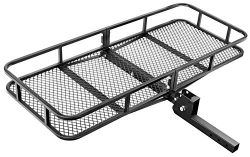 Leader Accessories Hitch Mount Rack Cargo Basket 60″ x 24″ x 6″ Folding Cargo  ...