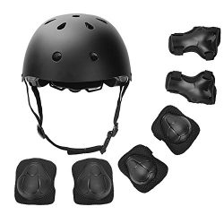 DaCool Kid's Protective Gear Set, Child's Adjustable Helmet, Knee Pads, Elbow Pads a ...