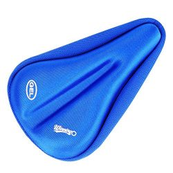 WINNINGO Child Bike Gel Seat Cushion, Child Cycling Saddle Cover Comfortable Small Bicycle Saddl ...
