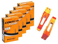 Continental Bicycle Tubes Race 28 700×20-25 S42 Presta Valve 42mm Bike Tube Bundle (Pack of ...