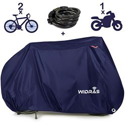 Widras Bicycle Motorcycle Cover Outdoor Storage Bike Heavy Duty Rip stop Material, Waterproof &a ...