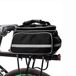 HSTYAIG Bicycle Pannier Outdoor Waterproof Multi- Function Portable Bicycle Pack Bike Pannier Ra ...