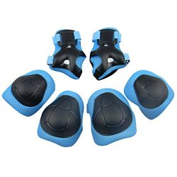 Panegy Children Kids Cycling Riding Bicycle Roller Skating Protective Gear Knee Elbow Wrist Supp ...