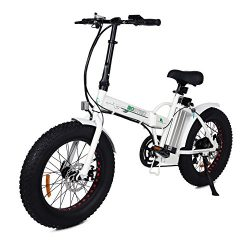 ECOTRIC 20″ New Fat Tire Folding Electric Bike Beach Snow Bicycle ebike 500W electric mope ...