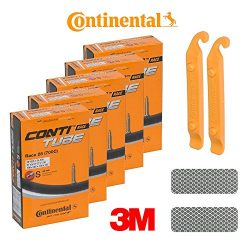 Continental Bicycle Tubes Race 28 S42 (20C-25C) Presta Valve 42mm Bike Tube – Bundle of 5  ...