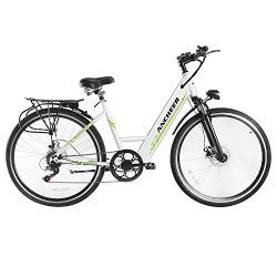 ANCHEER Electric Bike, 26 Inch Electric Commuter Bicycle with 36V 10 Ah Lithium Battery, 250W Br ...